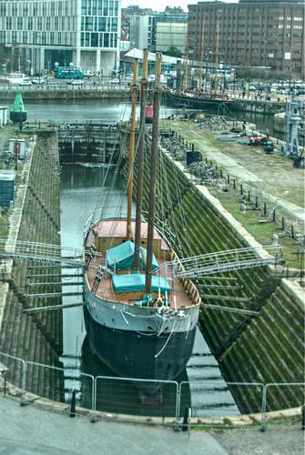 liverpool boat drydock schooner albertdock merseyside dewadden