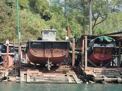 """Aberdeen """"Shipyard"""" (neilwhite483) Tags: hongkong aberdeen slipway boatrepair aberdeenboatyard"""