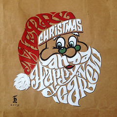"""Merry Christmas and a Happy New Year (Daniele """"Pepsy"""" Tozzi) Tags: christmas xmas year type lettering merry handlettering typedesign calligram"""