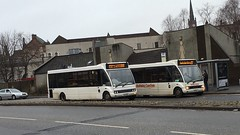 Two of McNairn's Optare Solo's.  V7 CTL and LAZ 4120 (West Scotland Transport) Tags: travel bus scotland greenock hamilton scottish solo single henderson laz ctl v7 coatbridge optare 4120 mcnairn singledecker ycw mx03 v7ctl laz4120 mx03ycw mcnairncoaches