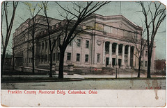 Franklin County Memorial Bldg., Columbus, Ohio (1908) (Sent from the Past) Tags: postcard postcards memorialhall memorialbuilding franklincountymemorialhall franklincountymemorialbuilding columbus columbusohio ohio 1908 1900s dividedback dividedbackera stamp cancel used madeingermany sfharriman handwriting