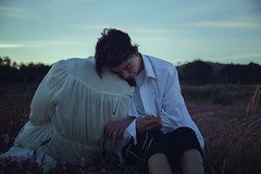 Foothold (SaraiDeza) Tags: photography photo creativephotography creative conceptualphotography conceptual concept fineart art blue beautiful film explore inspired portrait girl woman man boy love hug cuple