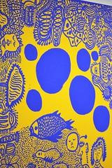 IMG_0406 (www.ilkkajukarainen.fi) Tags: detail exhibition nyttely ininfinity colours vrit abstract contemporary art taide teos nykytaide royal blue keltainen sininen vriks colour tennispalatsi ham muse museet museo museum yayoikusama finland eu europa suomi helsinki