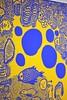 IMG_0406 (www.ilkkajukarainen.fi) Tags: detail exhibition näyttely ininfinity colours värit abstract contemporary art taide teos nykytaide royal blue keltainen sininen värikäs colour tennispalatsi ham musée museet museo museum yayoikusama finland eu europa suomi helsinki