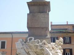 Bernini's Fontana dei Quattro Fiumi or Fountain of the Four Rivers  j (litlesam1) Tags: italy rome soloromejuly2016 july2016 fountains