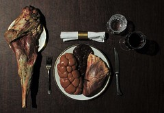 A man's meal (mark spag) Tags: lamb liver heart instestine halloween creepy disturbing disorder order dinner yum protein carnivore carnivorous