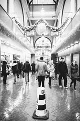Centre Shopping (Sheffield_Streets) Tags: sheffieldstreets danscapeco winter bigissueseller sheffield orchardsquare danscape blackandwhite converginglines