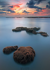 Low Tide Coral (Hafiz.Soyuz.Photography) Tags: low tide coral sea shore ocean water sunset penang kualamuda penaga nikon nature life clouds