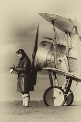 Bristol Scout (Steve Moore-Vale) Tags: bristol scout aviation aeroplanes airplanes aircraft planes reenactor actor sepia stow maries great war aerodrome essex timeline events tle