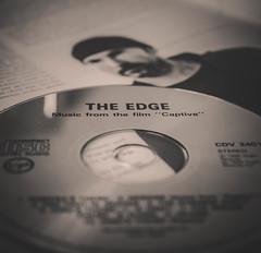 The Edge - Macro Mondays (H-1) Tags: the edge macro mondays black white u2 captive compact disc music guitar