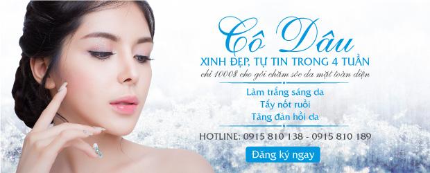 Ưu đãi gói chăm sóc da mặt toàn diện 1000 USD cho cô dâu