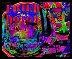 Fair Fare - Maple Bacon Fried Dough! (GAPHIKER) Tags: maple bacon fried dough bige state fair yummy glasses selfie reflection glow psychedelic surreal art fun sparkplug spark plug marybeth me dansfrieddough fairfare fare happyslidersunday hss