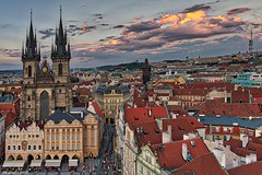 Prague's Eve (kadofr) Tags: prague sunset lady before tyn