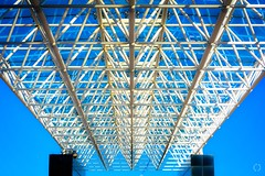 Angles and Lines (Little Hand Images) Tags: symmetry angles lines bluesky architectural design shadesofblue