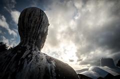 Luck and Hope (B Hutchison) Tags: xt1 dundee maggies centre anotony gormley sculpture metal man art sun light roof zinc