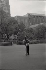 sax player (je245) Tags: leicam3 leicasummicron50mmf20rigid kodak tx400 diafine nyc newyork musician streetmusician busker