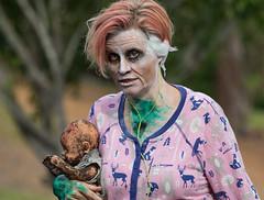 Medusa (f.rohart) Tags: brisbanecity queensland australia au zombiewalk zombie rescuers bernardetbianca outdoor scary disturbing dark canon70200f4l canon7dmarkii