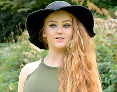 Flawless. (pstone646) Tags: youngwoman younglady beauty portrait people redhead pretty hat