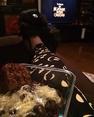 Perfect Halloween evening with chili, pumpkin bread, and Nightmare Before Christmas! (chicadecasa) Tags: tradition holiday pumpkinbread chili lularoe nightmarebeforechristmas instagram halloween