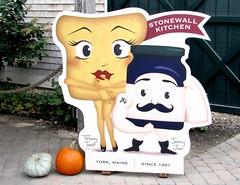 tiffany toast (Photo Op!) Tags: sign kitchen jam toast stonewallkitchen maine folksy autumn food