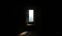 Untitled: Pane (Kippy!) Tags: window glass bubbled old ancient stoneflag floor brick rock stmichaelsmount cornwall summer september sea sky glaze pane light shadow sunbeam canon40d