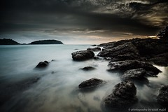 Hai Narn Bay (yusof majid) Tags: bay rocks horizon tranquility ocean sea sunset longexposure beach
