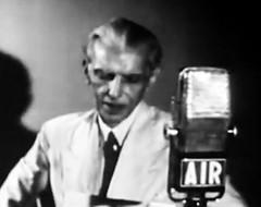Jinnah announces Pakistan's creation on All India Radio (Doc Kazi) Tags: india pakistan history partition independence mountbatten nehru jinnah liaquat baldev kripalani radcliffe din mohammad munir judges burma