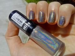Esmaltao das corujas: Hologrfico! (Rassa S. (:) Tags: esmalte unhas nails nailpolish naillacquer holo holographic hologrfico hits corujas impala cinza cintilante gray rainbow