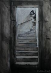DSC_7720+web (jiri.metod) Tags: stairs steps drawing mixedmedia charcoal conte chalk acryl