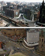 View from the Liver Building,, 1950s and 2016 (Keithjones84) Tags: liverpool merseyside history localhistory thenandnow rephotography liverbuilding royalliverbuilding