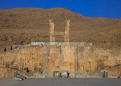 The main entrance of persepolis, Fars province, Marvdasht, Iran (Eric Lafforgue) Tags: achaemenid achaemenidempire ancient ancientcivilisation archaeology archeology architectural architecture colorimage culture day desert entrance heritage historical history horizontal incidentalpeople iran iranianculture landmark marvdasht middleeast monument oldruin orient outdoors people persepolis persia photography ruin ruined ruins shiraz takhtejamshid travel traveldestinations unescoworldheritagesite farsprovince ir