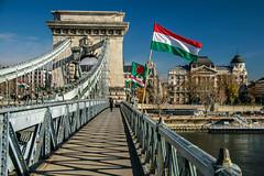 Budapest: Szchenyi Lnchd (Jorge Franganillo) Tags: budapest magyarorszg hungra hungary hu danube danubio duna puente bridge