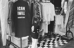 I Can - I Will (35mm) (jcbkk1956) Tags: clothes fashion stall boy thai mono blackwhite thonglo bangkok film 35mm analog ilfordpan100 ilford rangefinder yashica ministerd yashinon worldtrekker
