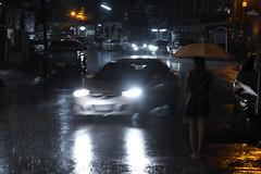 IMG_2725_1 (pavel.milkin) Tags: thailand phuket phukettown oldtown travel girl umbrella canon canon550d 550d helios helioslens helios442 442 green road car colour rain rainyseason breathe air