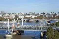 London (veronicajwilliams photography) Tags: veronicajwilliamsphotography veronicajwilliams travelphotography travel canon canon5dmarkii canon2470mm canon2470mmf28l london uk britain londonflyer londoneye city cityscape aerialphotography bridge thames riverthames river