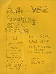 Antiwar Meeting, 10-6-1972 (Regional History Center & NIU Archives) Tags: boycott demonstration protest niu northernillinoisuniversity students activism