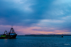 Sunset harbour  (T.ye) Tags: harbour sunset blue boat bokeh pink sunlight clouds cloudy landscape