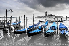 Gondola! (James Whitlock Photography) Tags: italy venice grand canal st marks square san marco gondola river water moody post pier jetty tower nikon d810 lee filters gitzo shower storm light