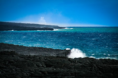 Hawaii Volcanoes National Park (aparlette) Tags: landscape hawaiivolcanoes water lavarock outdoor lava ocean nationalpark hawaiivolcanoesnationalpark phoa hawaii unitedstates us