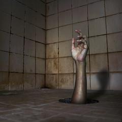 """Intruder"" (esteban_mhz) Tags: art monster mystery bathroom shower photography scary hand ghost surreal spooky hidden mysterious horror intruder"