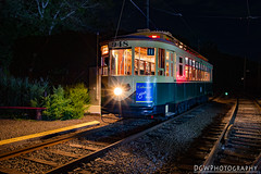 Painting the night away... (dgwphotography) Tags: nightphotography lightpainting museum night trolley paintingwithlight d600 shorelinetrolleymuseum 28mmf18g