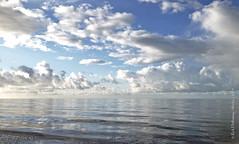 Calm sea 2 (rhfo2o - rick hathaway photography) Tags: blue sea sky reflection beach clouds seaside waves westsussex horizon calm iphone rustington iphone4s rhfo2o