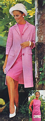 Pennys 67 ss pink dress coat (jsbuttons) Tags: clothing mod 60s buttons womens 1967 jc catalog 67 sixties penney vintagefashion