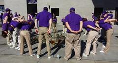 Trombone Bonfire (trailrunner55) Tags: seattle uw washington huskies stretch trombone marchingband universityofwashington pregame