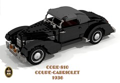 Cord 810 Coupe-Cabriolet - 1936 (lego911) Tags: auto usa car america 1936 vintage cord 1930s model lego render convertible veteran 83 coupe challenge v8 cad 812 acd lugnuts 96 cabriolet povray moc 810 ldd miniland onlyinamerica lego911 happycrazyeigthbirthdaylugnuts