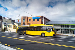 Victoria Street (andrewsurgenor) Tags: city bus buses yellow electric busse transport transit nz wellington publictransport streetscenes omnibus trolleybus obus trolleybuses citytransport trackless nzbus gowellington