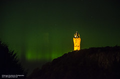 Wallace Monument in the Green Auroral majesty