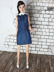 The jeans dress - Fall 2015 - new clothes (Levitation_inc.) Tags: face fashion modern model doll dolls nu handmade ooak dream barbie levitation muse clothes teen poppy casual fr royalty parker 2015 fr2 pivotal nuface