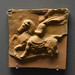 Terracotta votive plaque with representation of a horseman in relief, from Antheia