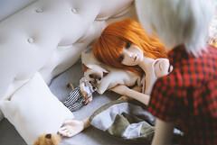 4 (Jane Kolyadintseva) Tags: red love home girl hair doll sleep room dream romantic bjd